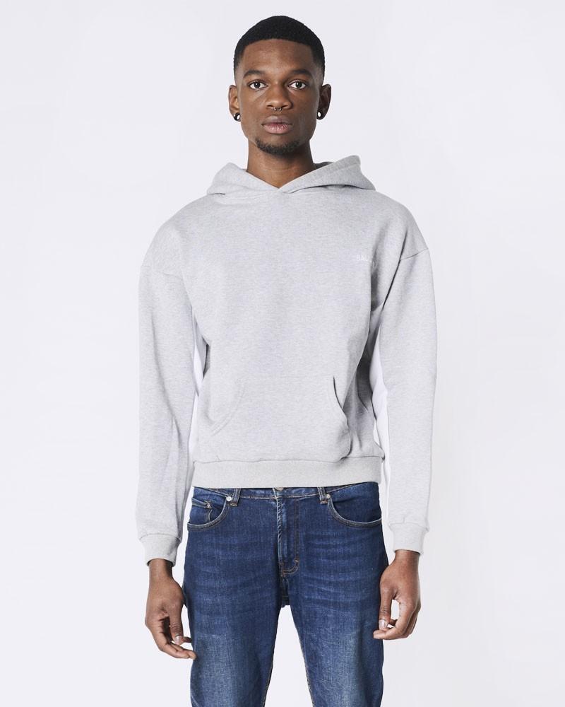 Hoodie gris béton et blanc