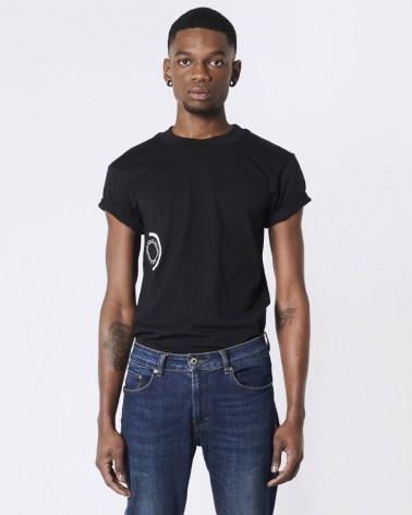 T-shirt brodé Garçon de Jour - Garçon de Nuit noir
