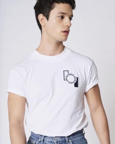 T-shirt brodé Garçon de Jour - Garçon de Nuit blanc