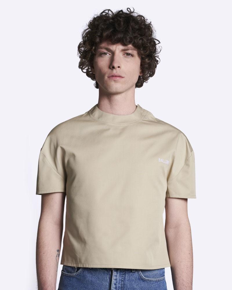 T-shirt crop-top sable BALLORIN