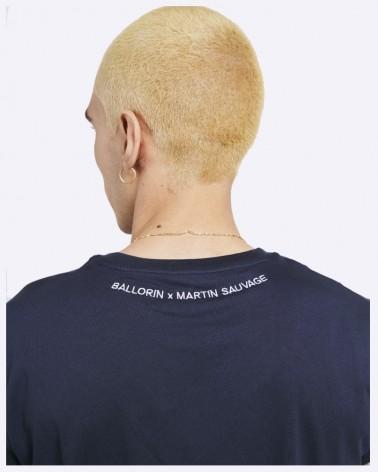 T-shirt bleu marine Ballorin x Martin Sauvage - Précommande Hiver 2022