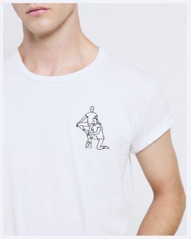 T-shirt blanc Ballorin x Martin Sauvage - Précommande Hiver 2022
